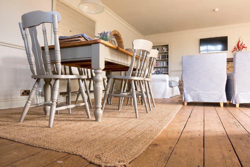 Farmhouse style table and chairs interior