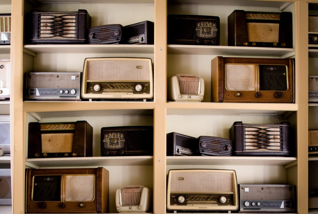 old electronics. antique radios