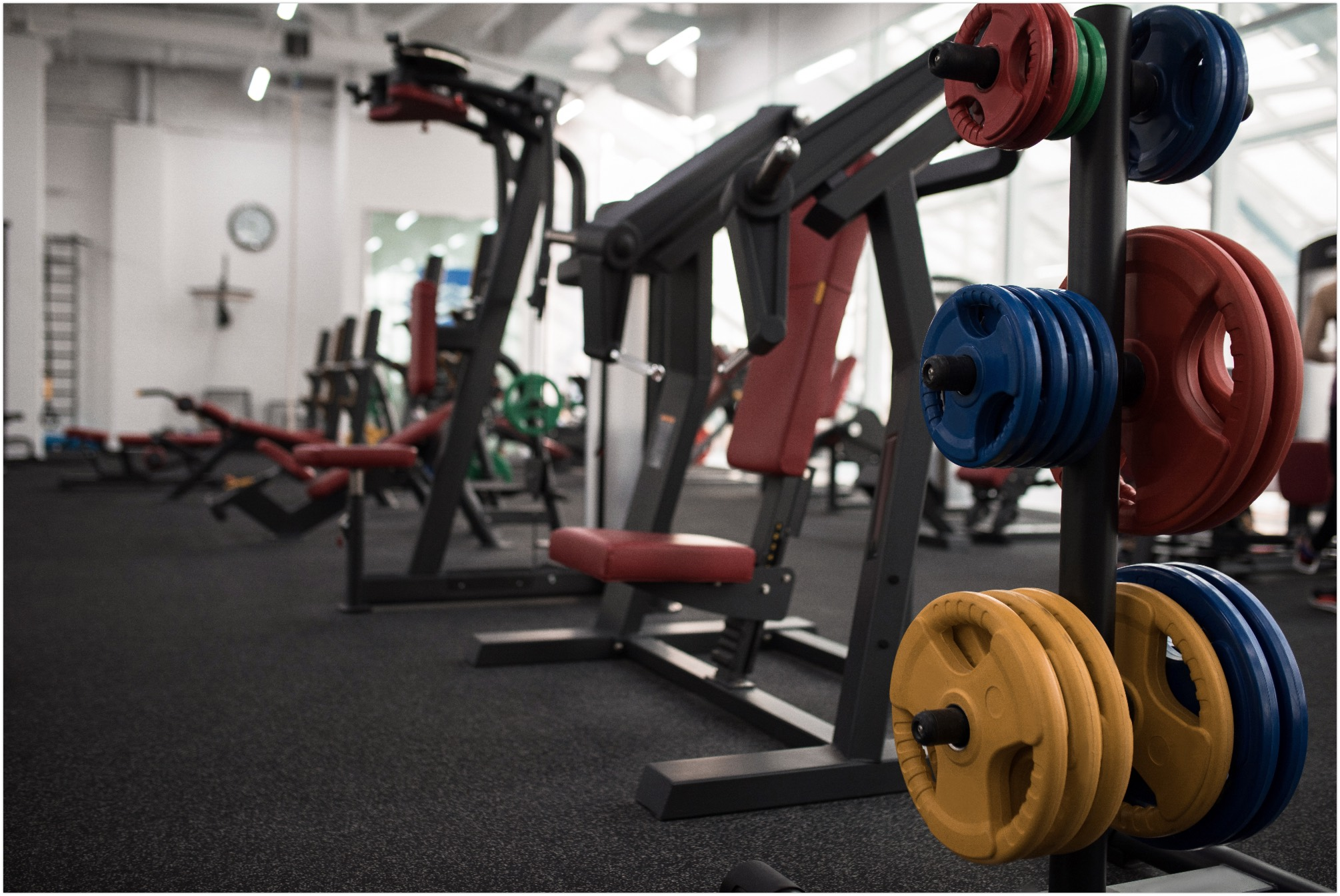 exercise machines inside the gym