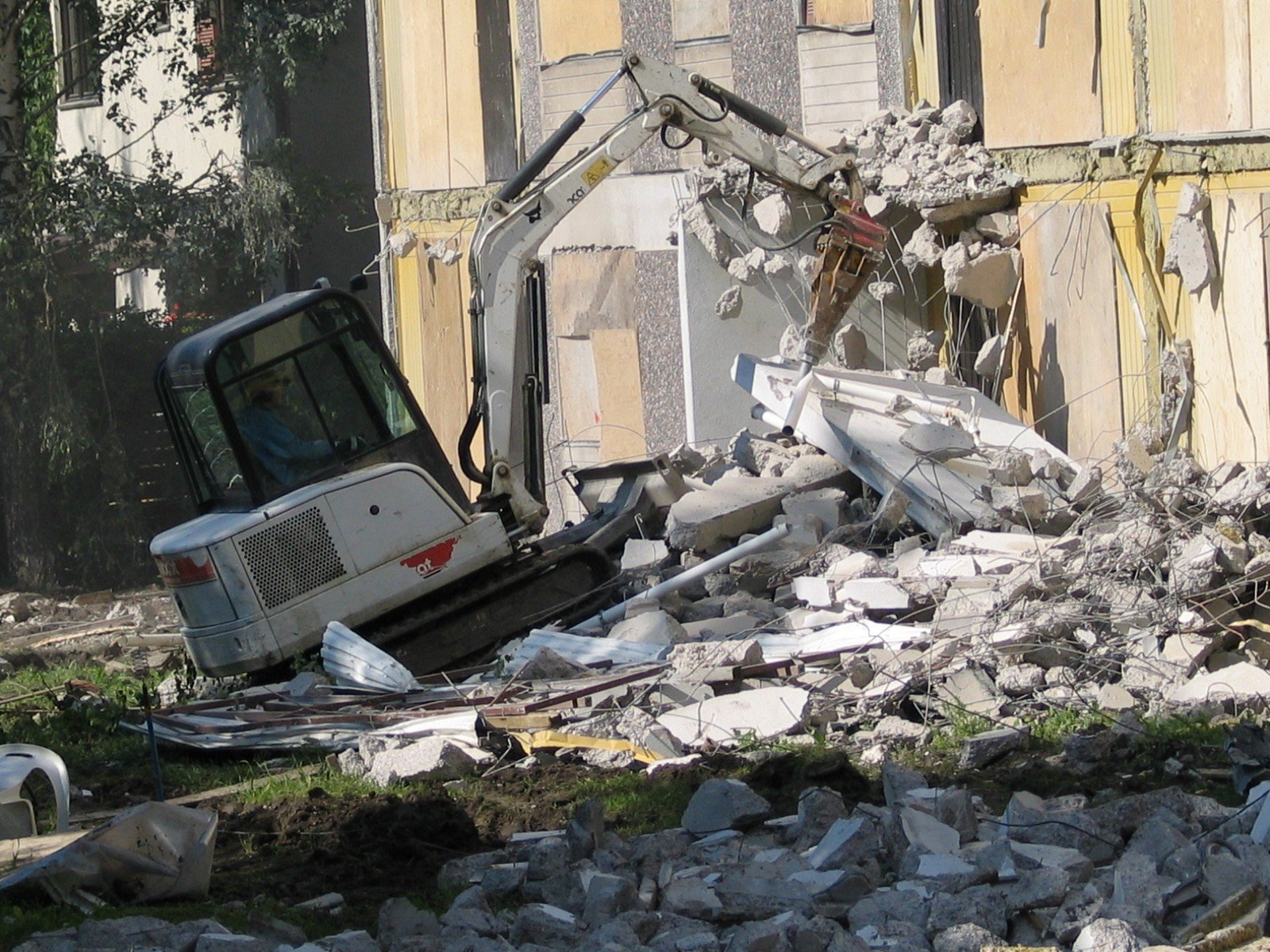 demolition of a commercial space