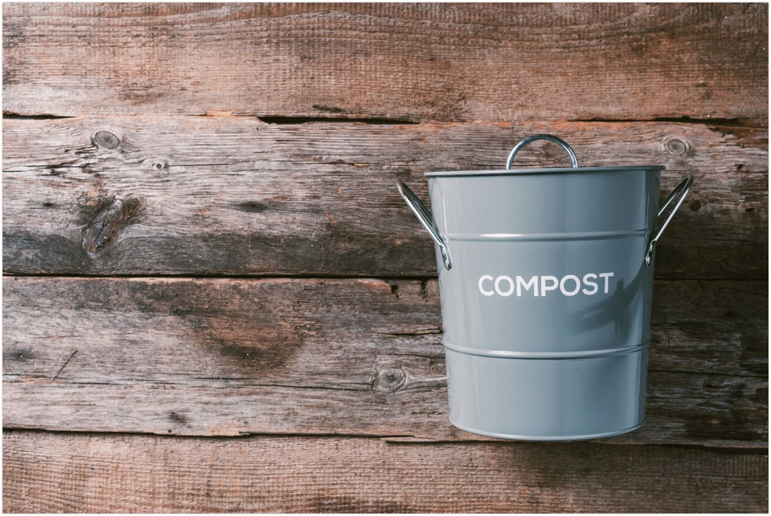 Recycling food waste bin for compost
