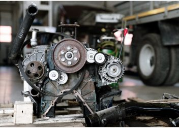Part of mechanism or engine of large automobile